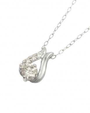 Pt 天然ダイヤモンド計0.2ct プラチナデザイン ネックレスを見る