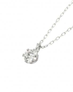 Pt 天然ダイヤモンド 0.1ct VSクラス 6本爪ネックレス・あずきチェーンを見る