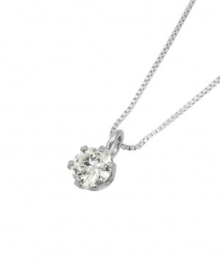 Pt900/Pt850 Pt 天然ダイヤモンド 0.1ct VSクラス 6本爪ネックレス・ベネチアンチェーン見る