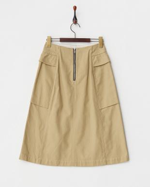 ベージュ ポケット付きスカート見る
