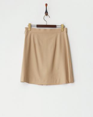 beige フラットウール スカートを見る