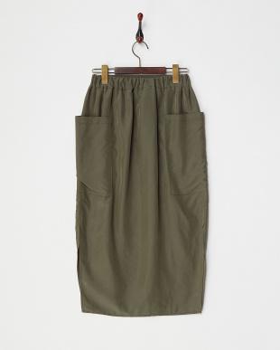 KHA カーキ イージーペンシルタイトスカートを見る