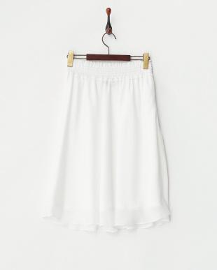 ホワイト ホワイト ウエストシャーリングジャガードスカート見る