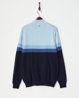 NAVY MULTI PEARCE LINED SWEATER見る