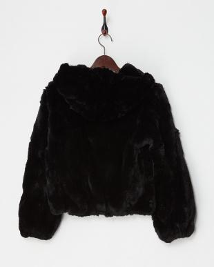 ブラック レッキスファー フード付きジャケットを見る