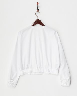 ホワイト Compact Cotton ドルマンショートブルゾンを見る