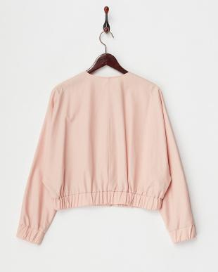 ピンク Compact Cotton ドルマンショートブルゾンを見る