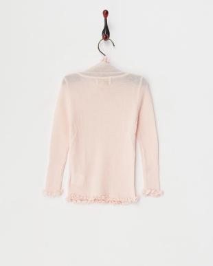 サーモンピンク knit high neck sweaterを見る