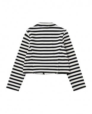 黒 クロ toddlers' stripe jacketを見る