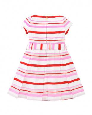 ピンク toddlers' multi stripe dressを見る