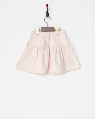 ピンク strech satin skirt|KIDSを見る