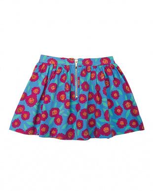 マルチ フラワー柄ギャザースカート|KIDSを見る