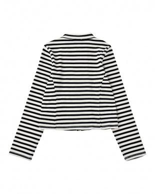 黒 クロ girls' stripe jacketを見る