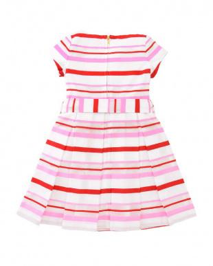ピンク girls' multi stripe dressを見る