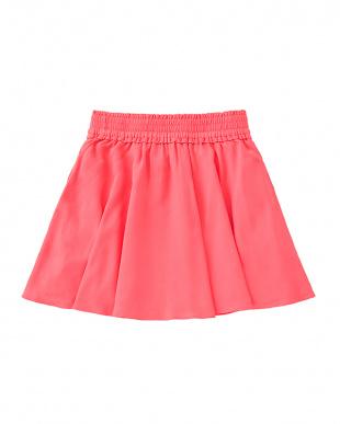 赤 アカ girls' smocked skirtを見る