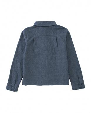 ブルー GT.ruffle shirtを見る