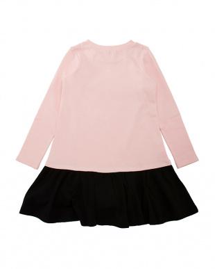ピンク GIRLS PONTE SHAGGY DRESSを見る