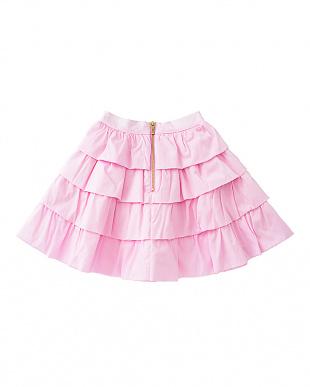 ピンク ティアードスカートを見る