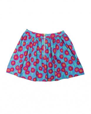 マルチ フラワー柄ギャザースカートを見る