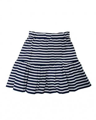 紺 コン ボーダースカートを見る