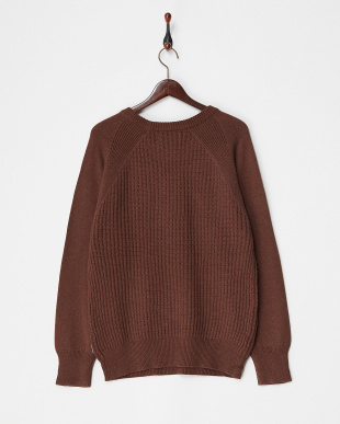 BROWN CW Crewneck Knit FORK&SPOON見る