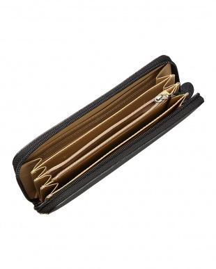 ブラック オーストリッチレッグ ラウンドファスナー長財布を見る