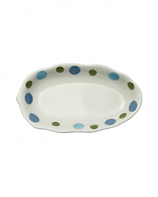 スイートドットブルー カレー皿を見る