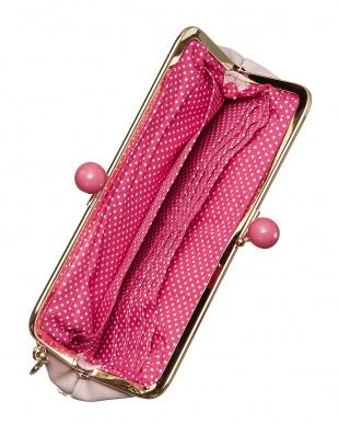 ライトピンク がま口長財布を見る