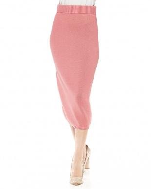 ピンク ピグメントリブニットスカートを見る