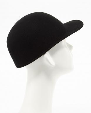 BLACK GRILLO FELT CAP│MEN見る