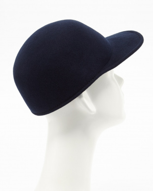 NAVY GRILLO FELT CAP│MEN見る