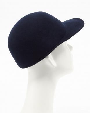 NAVY GRILLO FELT CAP│MEN見る
