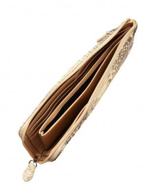 キャメル ダイヤモンドパイソンL字ファスナー長財布を見る
