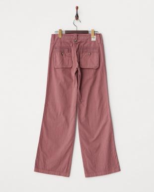 ピンク系 バックポケットワイドパンツ WOMEN見る