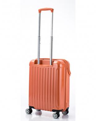 オレンジカーボン トップオープンスーツケース Sを見る