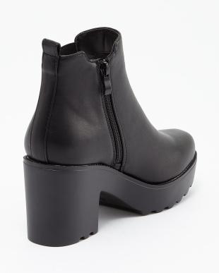 ブラック BLACK サイドゴア厚底ブーツを見る