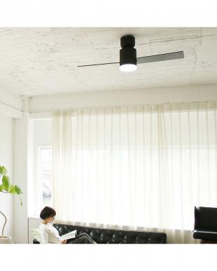 ブラック Modern Collection LEDシーリングファン 2 blades styleを見る