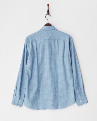 ブルー デラベクラシックパターンシャツ|MEN見る