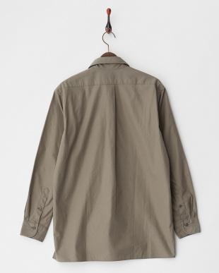 カーキ プルオーバーミリタリーシャツ|MEN見る