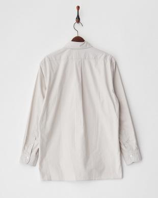 ライトグレー プルオーバーミリタリーシャツ|MEN見る