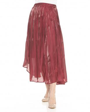 RED レッド キラキラサテンアシメフレアスカートを見る