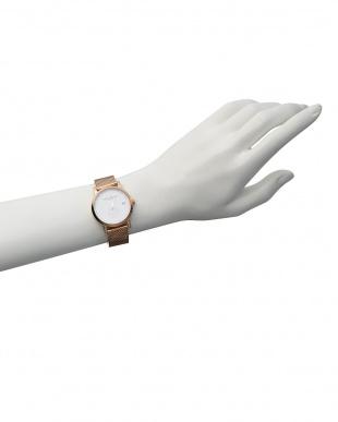 白 白×ピンクゴールド LW37 腕時計|WOMENを見る