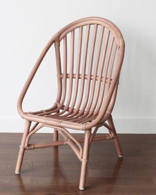 ピンク Rattan Chair ミニ見る