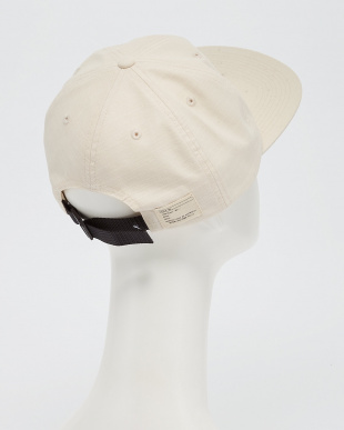 WHITE B:MIL 6PANEL CAP見る