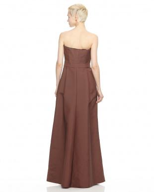 38 ブラウン 幾何学柄ドレス見る