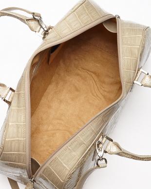 ウィローグレー(オリックス) ヘンローン社製クロコダイル ボストンバッグ見る