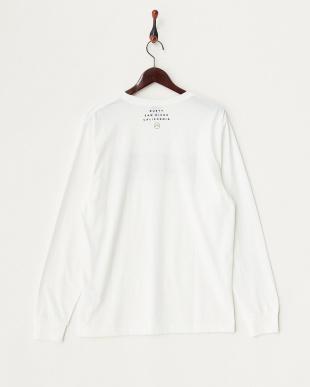 ホワイト カモフラージュプリント 長袖Tシャツ見る