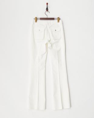 70 ホワイト バックスナップボタンポケットパンツ WOMEN見る