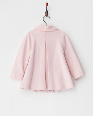 ピンク リボン付き丸衿コート12M~見る