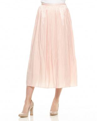 ピンク シャイニーロングスカートを見る